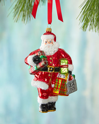 2014 Santa with Presents Christmas Ornament