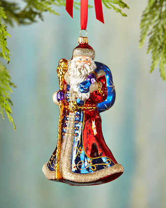 Santa with Staff Christmas Ornament