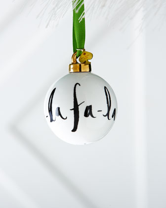 Fa La La Christmas Ornament