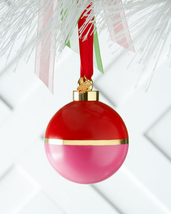 Pink & Orange Colorblock Christmas Ornament