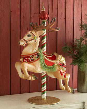 Carousel Reindeer Figure
