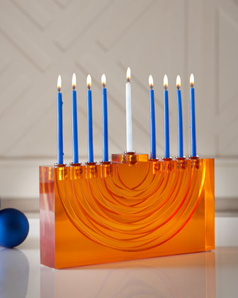 Orange Bel Air Menorah