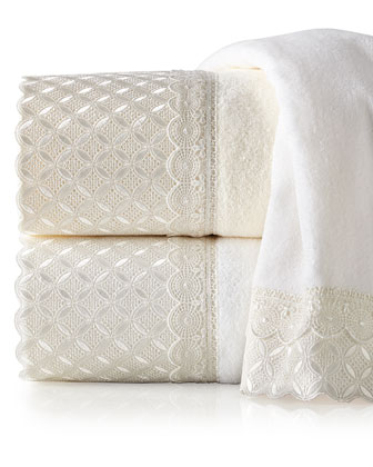 Eyelet Scallop Towels
