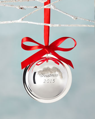 Christmas 2014 Silver Ball Ornament