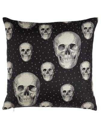 Black Calavera Pillow