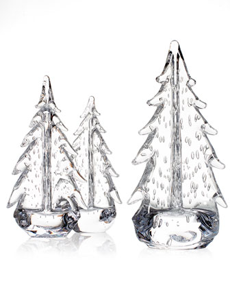 Bubble Evergreen Glass Trees