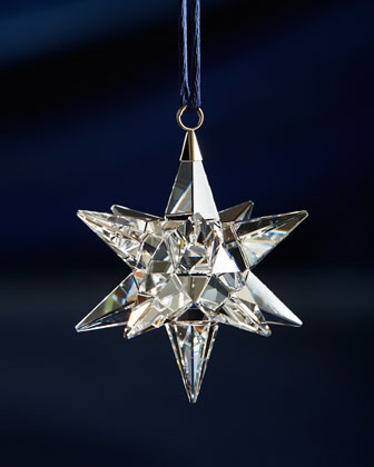 Clear Star Christmas Ornament