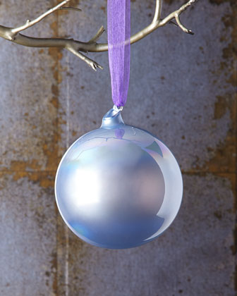 Pearlescent Purple Christmas Ornament