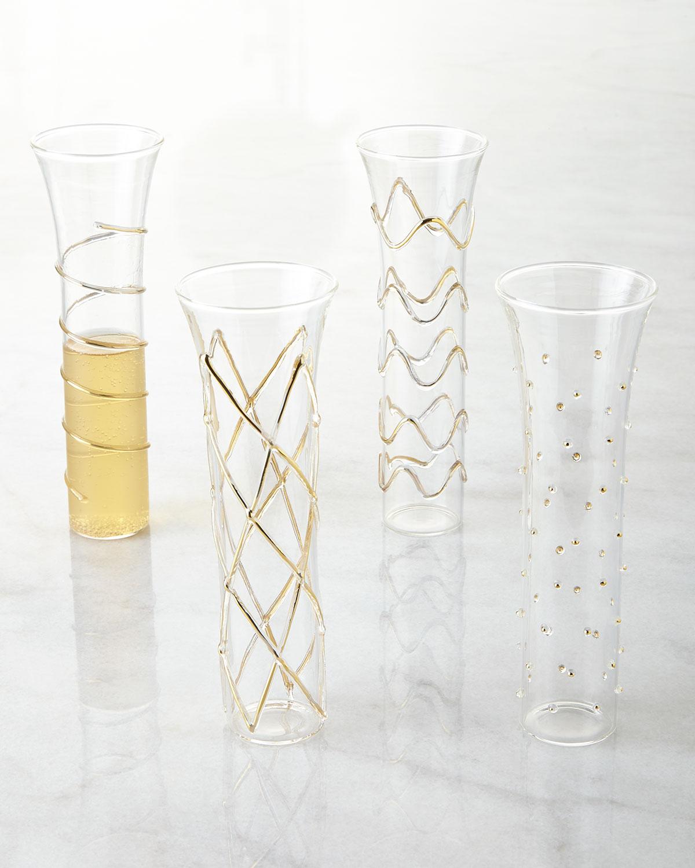 Four Marseilles Flutes, Clear/Gold - Neiman Marcus