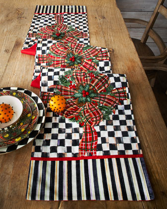 Bows & Boughs Table Runner