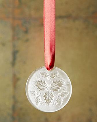 2014 Clear Mistletoe Christmas Ornament