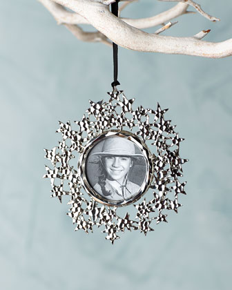Star Annual Frame Christmas Ornament