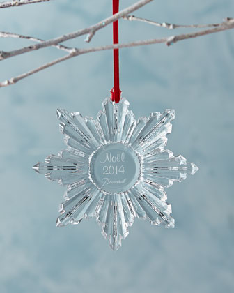 2014 Annual Clear Snowflake Christmas Ornament