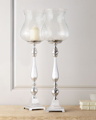 Two Queensbury Candleholders