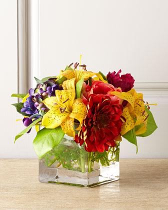 Bright Lilies Faux Floral
