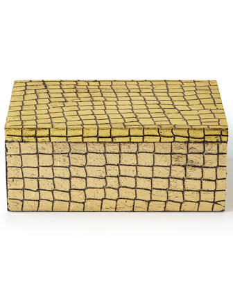 Cayman Crocodile-Print Medium Box