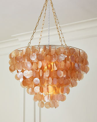Aurora Rose Capiz Shell Chandelier