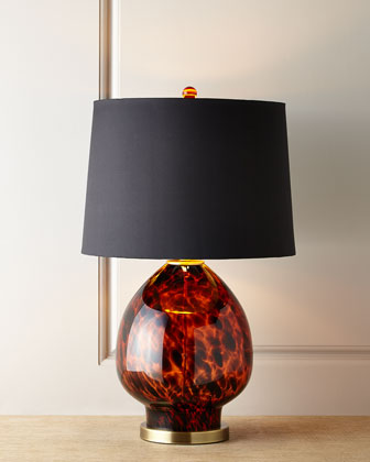 Tobias Tortoise Glass Table Lamp