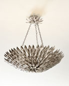 Broche Layered Leaves Six-Light Convertible Chandelier