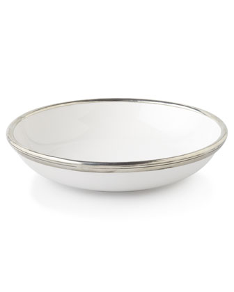 Pewter-Rim Bowl