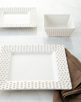 12-Piece Square Beaded-Rim Dinnerware Service