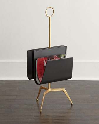 Tripod Double Magazine Rack