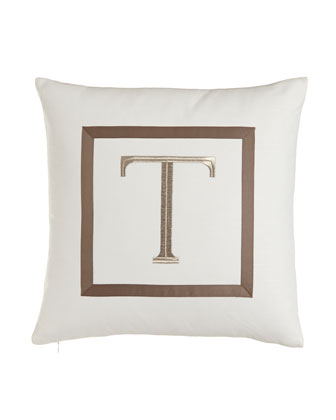Pillow with Embroidered Initial