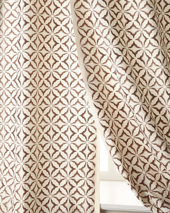 Frost Embroidered Curtains