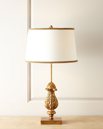 Carved finial lamp