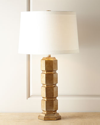 Gold Leaf Hexagonal Lamp