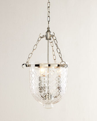 Diamonte Etched Pendant Light