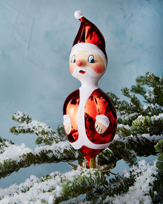 Vintage-Style Santa Ornaments