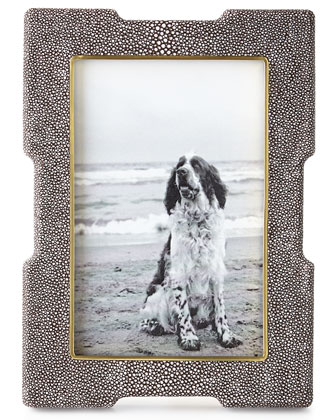 Chocolate Shagreen Deco Frames