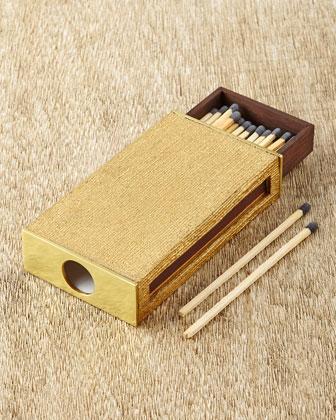 Golden Linen Matchbox Sleeve