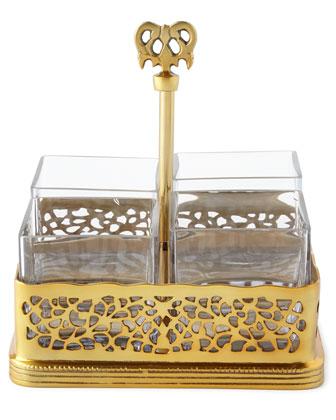 Godinger Gold-Tone Pierced Serveware