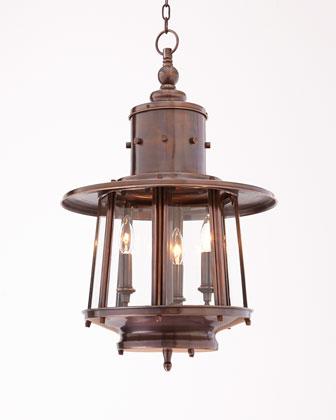 Copper Nantucket Hanging Lantern