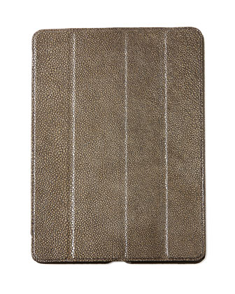 Stingray-Embossed Leather iPad Air Case