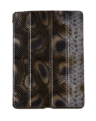 Snake-Embossed Leather iPad Air Case