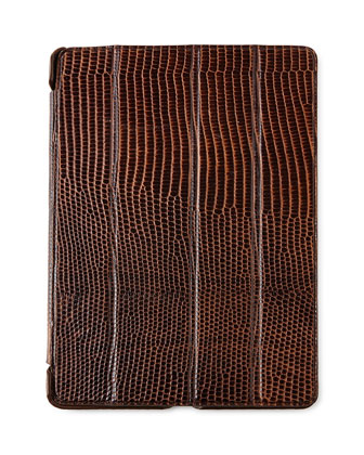 Lizard-Embossed Leather iPad Cases