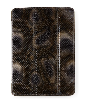 Snake-Embossed Leather iPad Cases