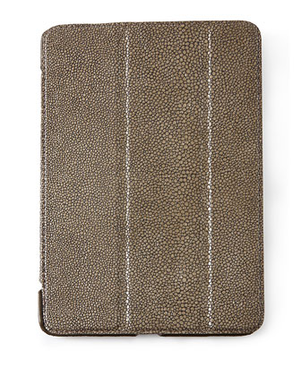 Stingray-Embossed Leather iPad Mini Case