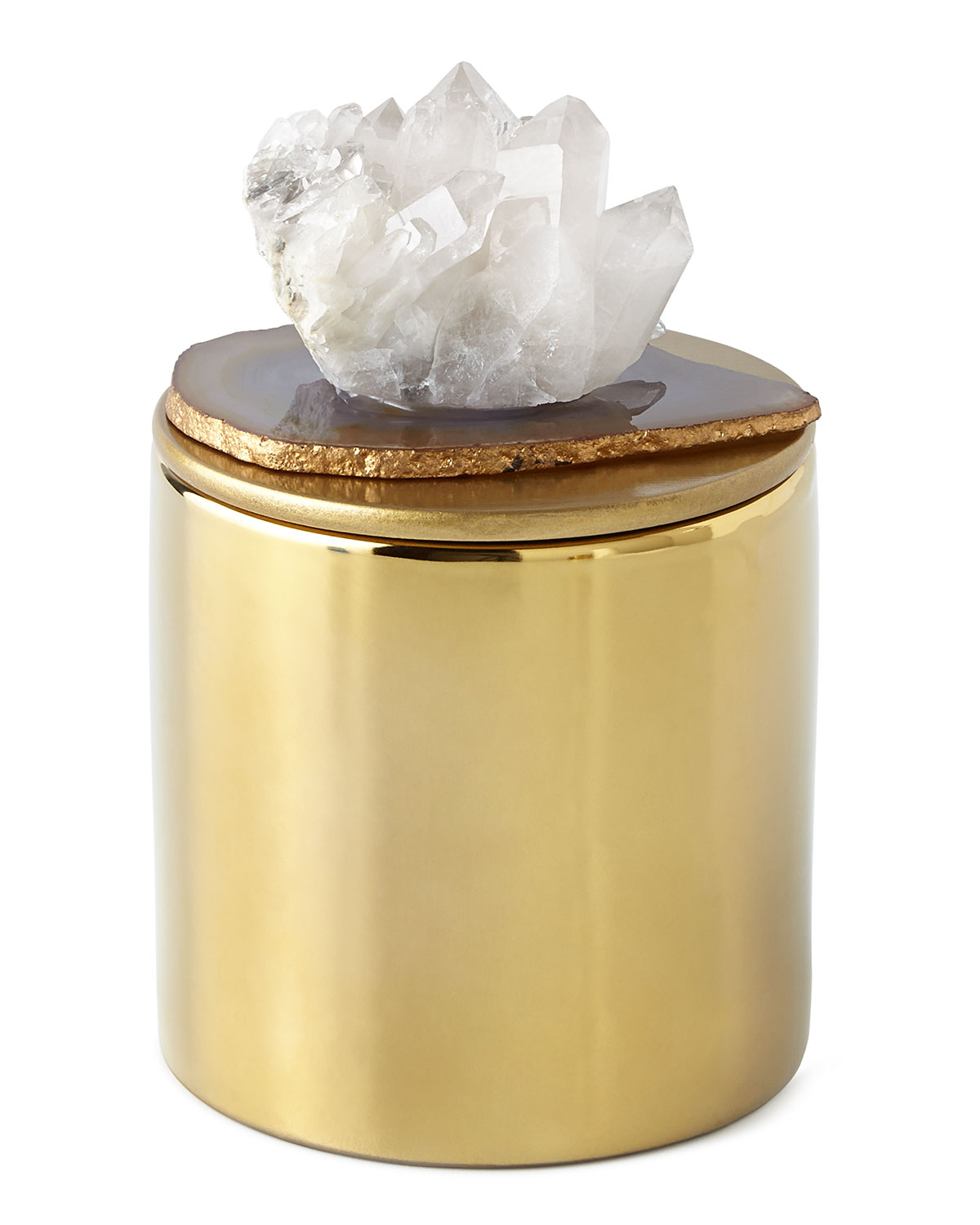 Natural Stone Candle - Neiman Marcus