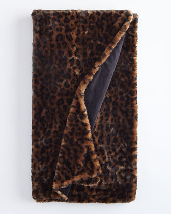 Panther Faux-Fur Throw