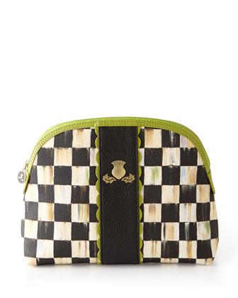 Courtly Check Travel Accessories with Chartreuse Trim