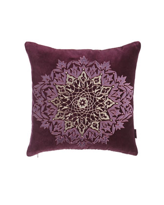 Plum Medallion Pillow