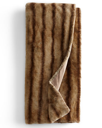 Faux-Mink Throw