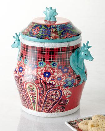 Folklore Holiday Cookie Jar