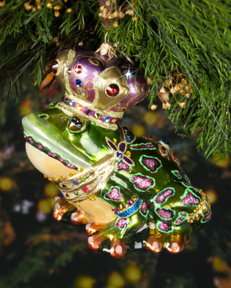 Frog Prince Christmas Ornament