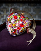 Bejeweled Heart Christmas Ornament