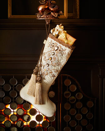Bejeweled Christmas Stocking